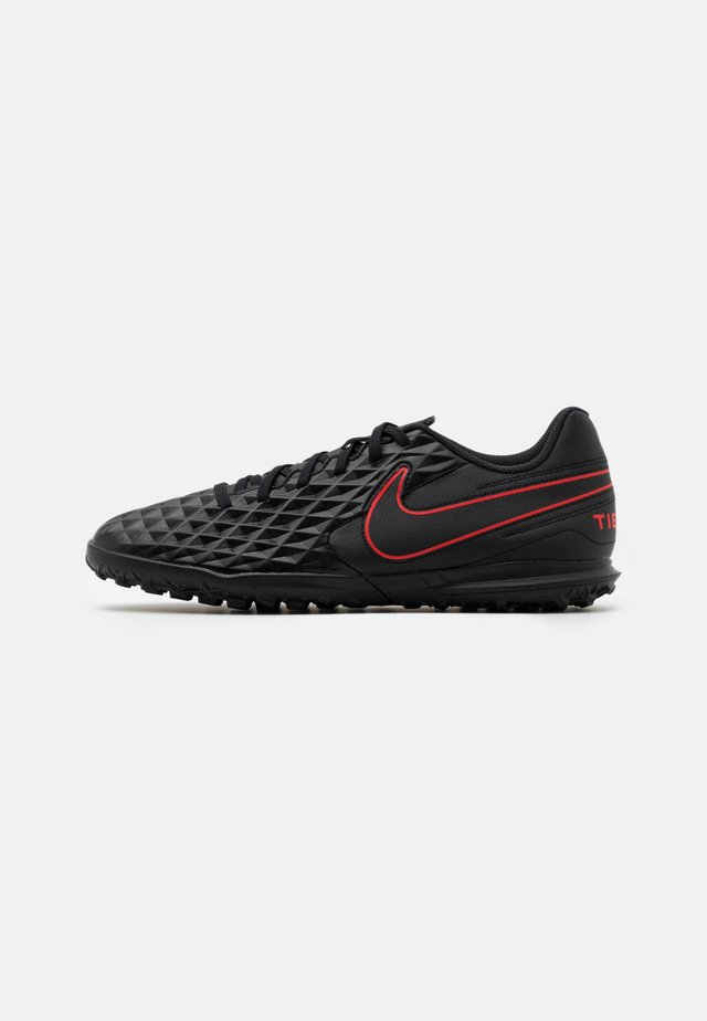 TIEMPO LEGEND 8 CLUB TF - Fotballsko for kunstgress - black/dark smoke grey/chile red
