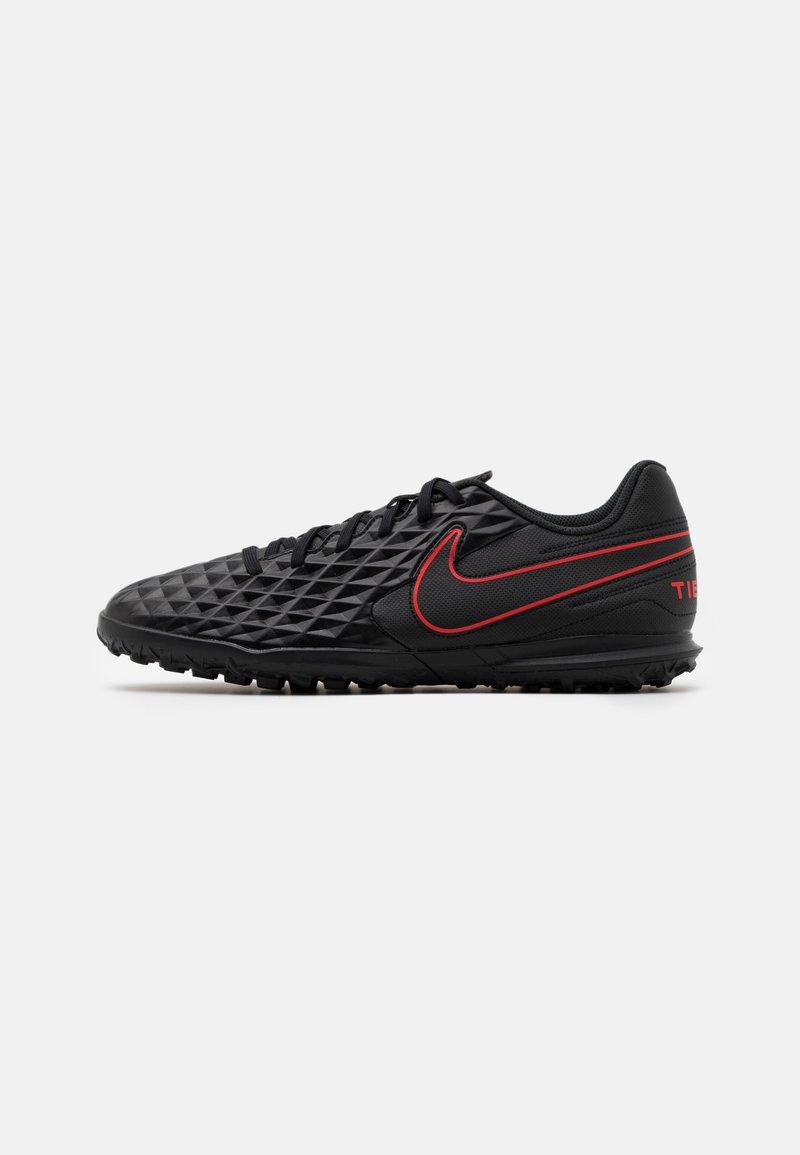 Nike Performance - TIEMPO LEGEND 8 CLUB TF - Voetbalschoenen voor kunstgras - black/dark smoke grey/chile red