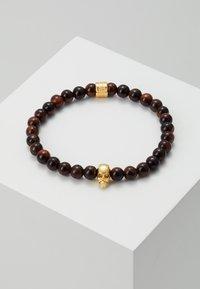 Northskull - SKULL BRACELET - Armband - gold-coloured/brown - 0