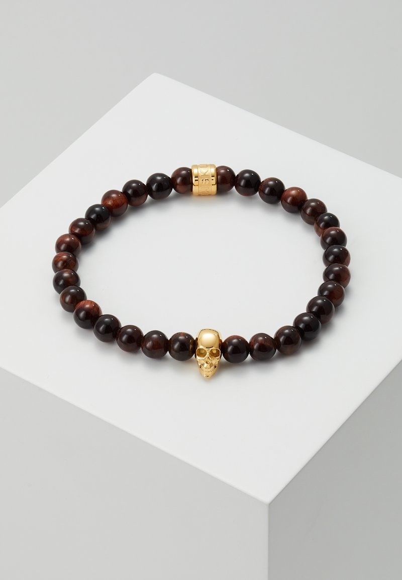 Northskull - SKULL BRACELET - Armband - gold-coloured/brown