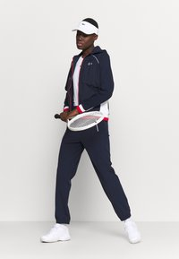 Lacoste Sport - OLYMP PANT - Trousers - navy blue/white - 1
