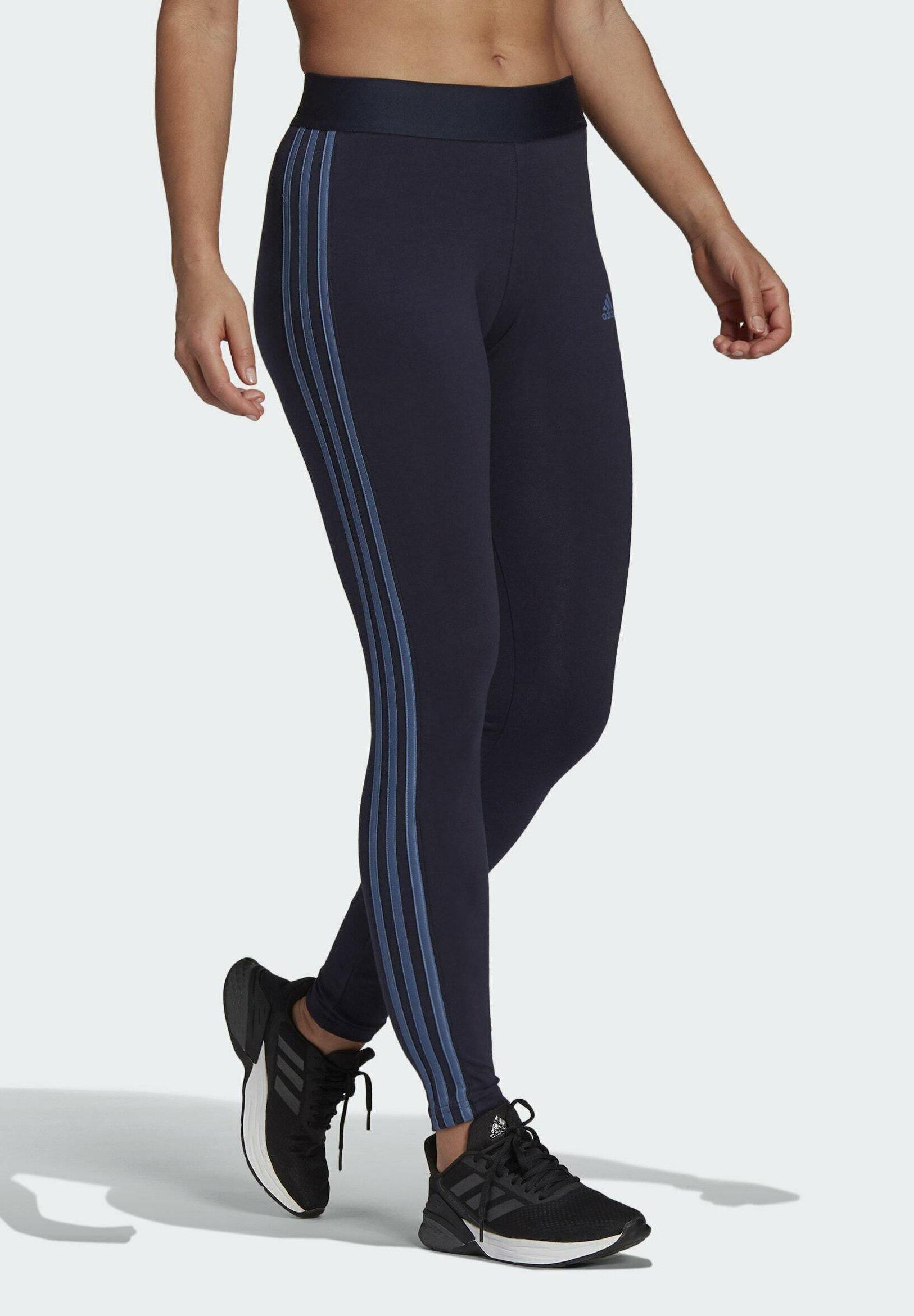 Donna ESSENTIALS 3-STRIPES LEGGINGS - Collant