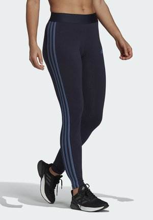 ESSENTIALS 3-STRIPES LEGGINGS - Leggings - blue