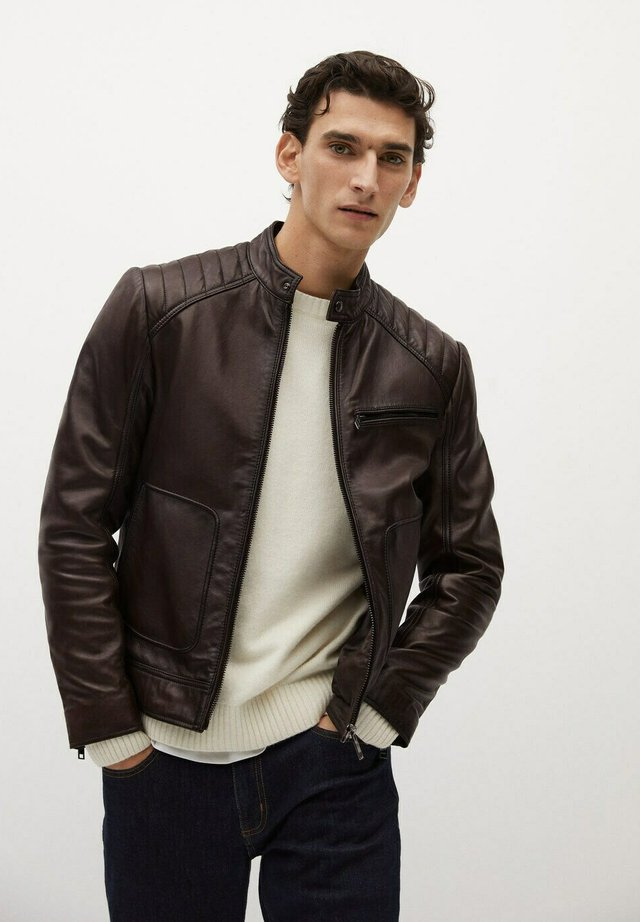 Leather jacket - schokolade