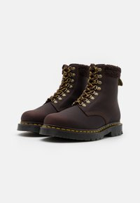 Dr. Martens - 1460 COLLAR UNISEX - Lace-up ankle boots - cocoa/dark brown - 1