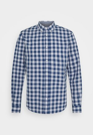 REGULAR CLASSIC CHECK - Shirt - navy/offwhite