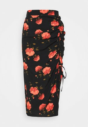MIDI SKIRT - A-lijn rok - black