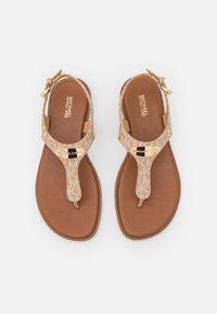 MICHAEL Michael Kors - PLATE THONG - T-bar sandals - camel - 5