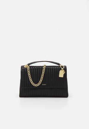 AMELIA FLAP SHOULDER - Across body bag - black/gold-coloured