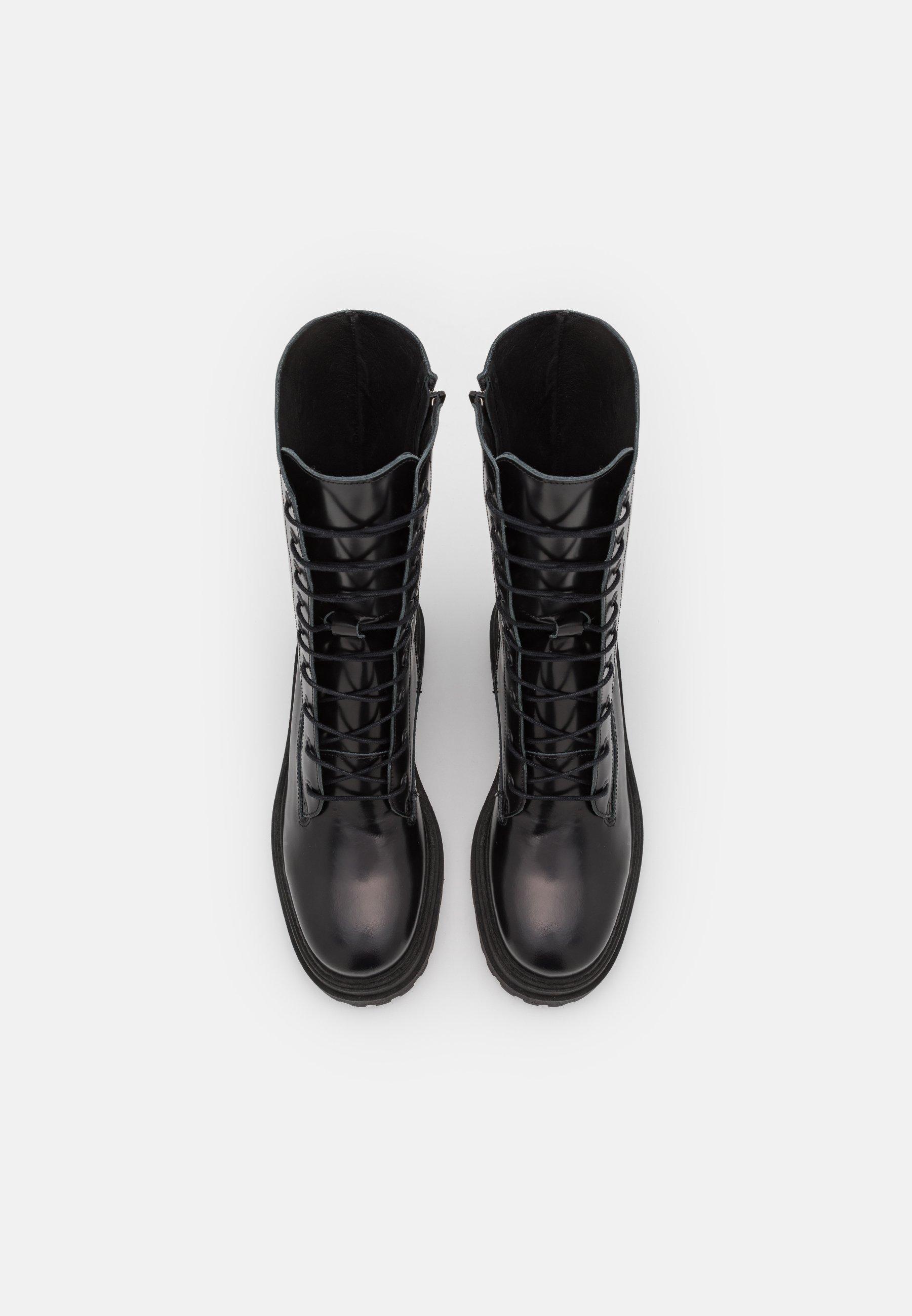 Women SLFASTA CHUNKY LACEUP BOOT  - Platform boots
