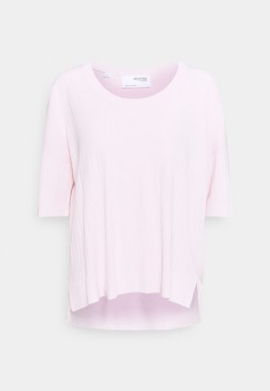 SLFWILMA UNECK - Basic T-shirt - primrose pink