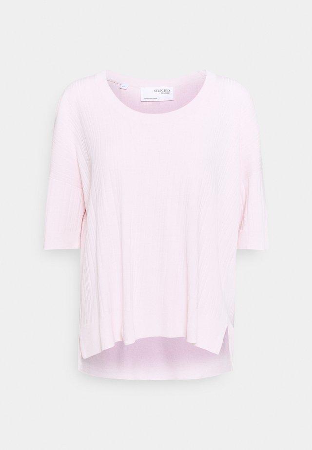 SLFWILMA UNECK - T-Shirt basic - primrose pink