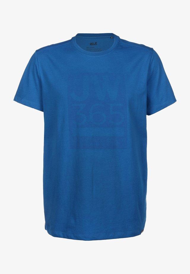 365 T M - T-shirt print - azure blue