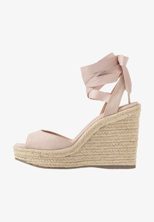 PADY TIE UP WEDGE - High heeled sandals - oatmeal