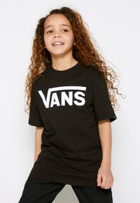 Vans - BY VANS CLASSIC BOYS - Print T-shirt - black/white - 0