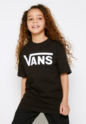 BY VANS CLASSIC BOYS - Print T-shirt - black/white