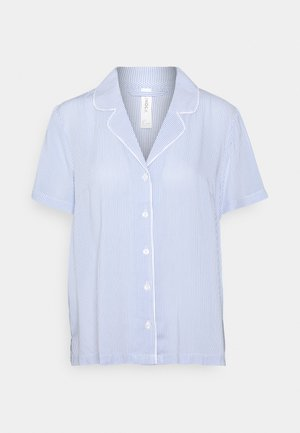 NIGHT SHIRT FIA WOVEN - Pyjama top - blue