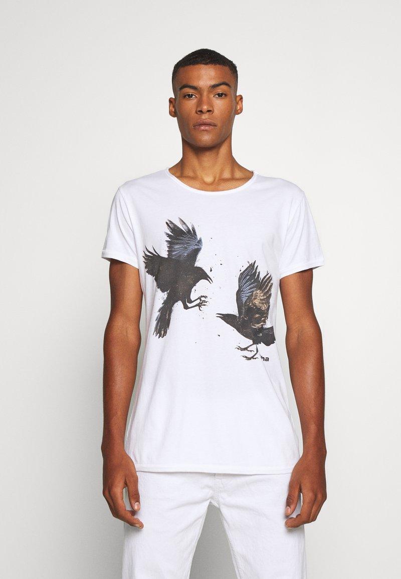 Tigha - RAVENS WREN - Print T-shirt - white