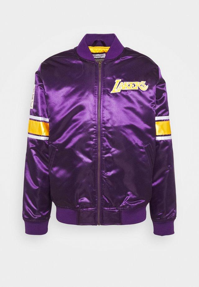 NBA LA LAKERS HEAVYWEIGHT JACKET - Klubové oblečení - purple