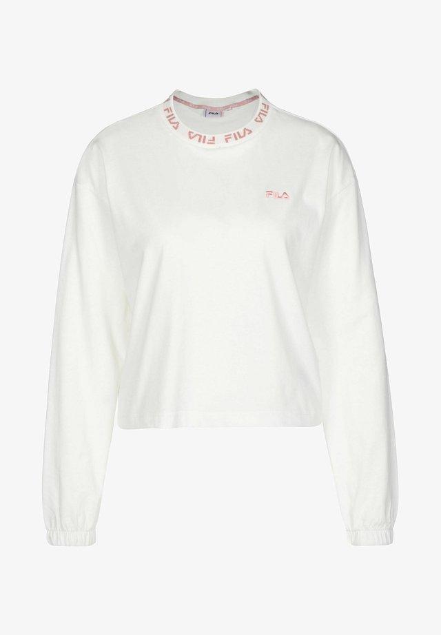 Maglietta a manica lunga - blanc de blanc