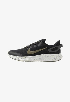 RUN ALL DAY 2 SE - Neutral running shoes - black/medium olive/limelight