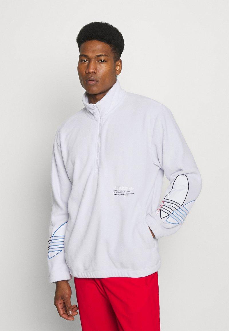 adidas Originals - TRICOL UNISEX - Felpa in pile - white