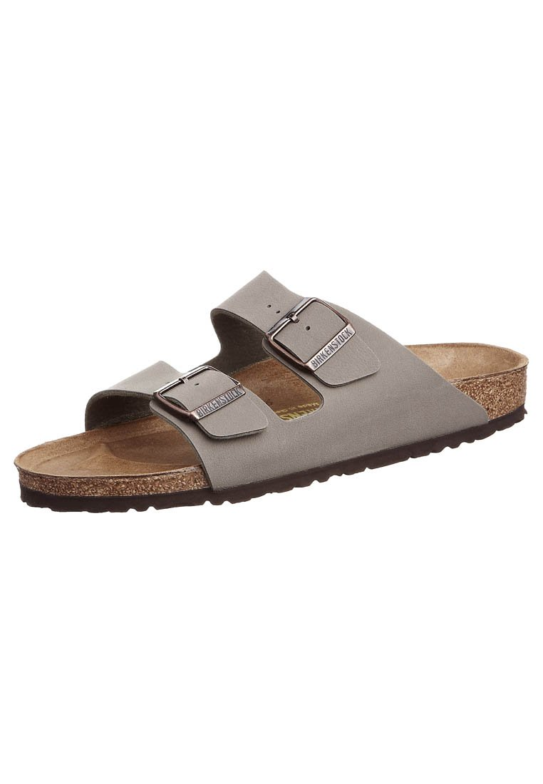 Birkenstock - ARIZONA NARROW FIT - Sandalias planas - stone