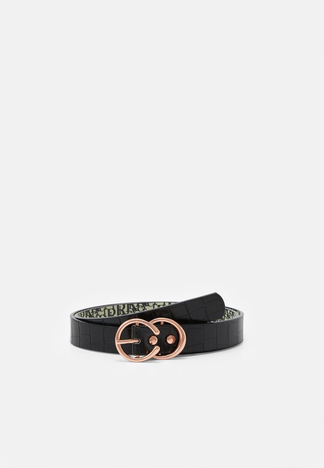 MINI HORSESHOE BELT - Cintura - black