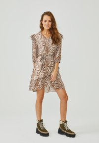 Aaiko - VALENTHE - Day dress - root brown dessin - 0