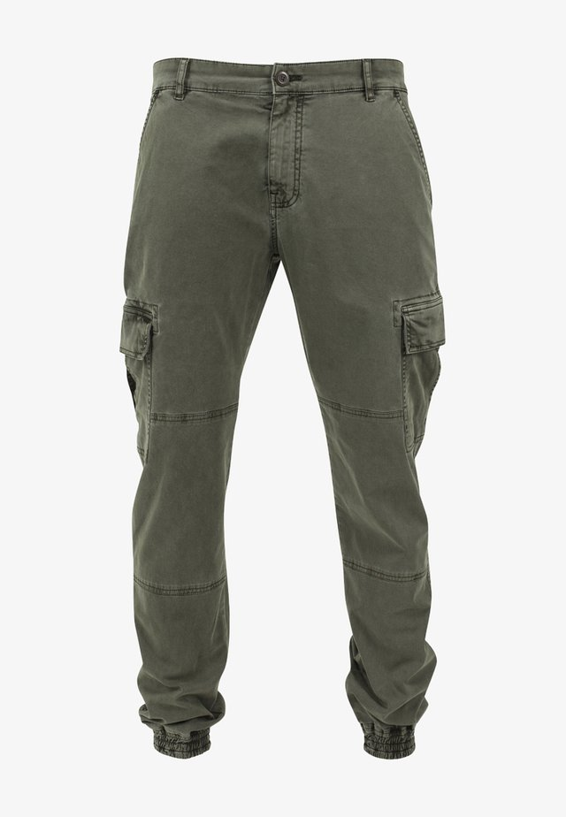 WASHED CARGO  - Cargo trousers - olive
