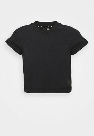 RECCO CROP TEE - T-shirt imprimé - black