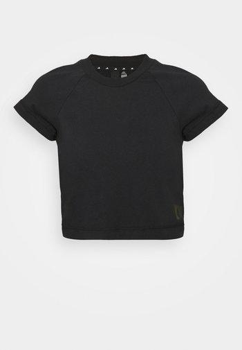 RECCO CROP TEE - T-shirts med print - black