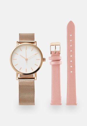 SET - Klocka - rose gold-coloured/pink