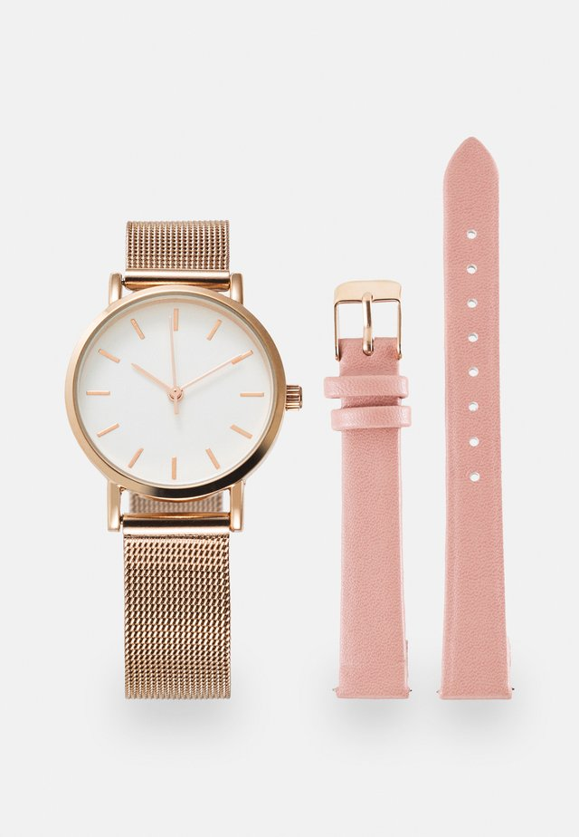 SET - Zegarek - rose gold-coloured/pink