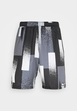 DRY SHORT PRINT - Sports shorts - black/white
