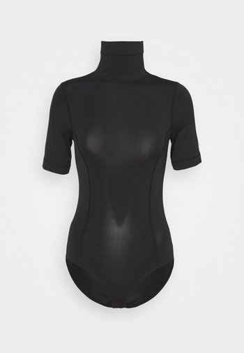 BLEND MOCK NECK BODYSUIT - T-shirts - black