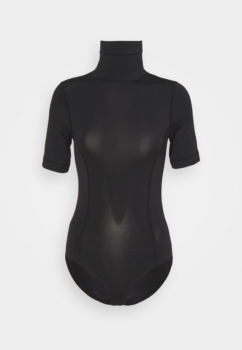 Club Monaco - BLEND MOCK NECK BODYSUIT - T-shirt basic - black