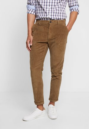 CROPPED PANTS - Tygbyxor - sand