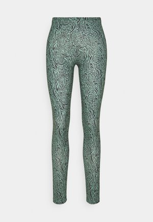 ONLARIA LONG - Leggings - Trousers - balsam green/black