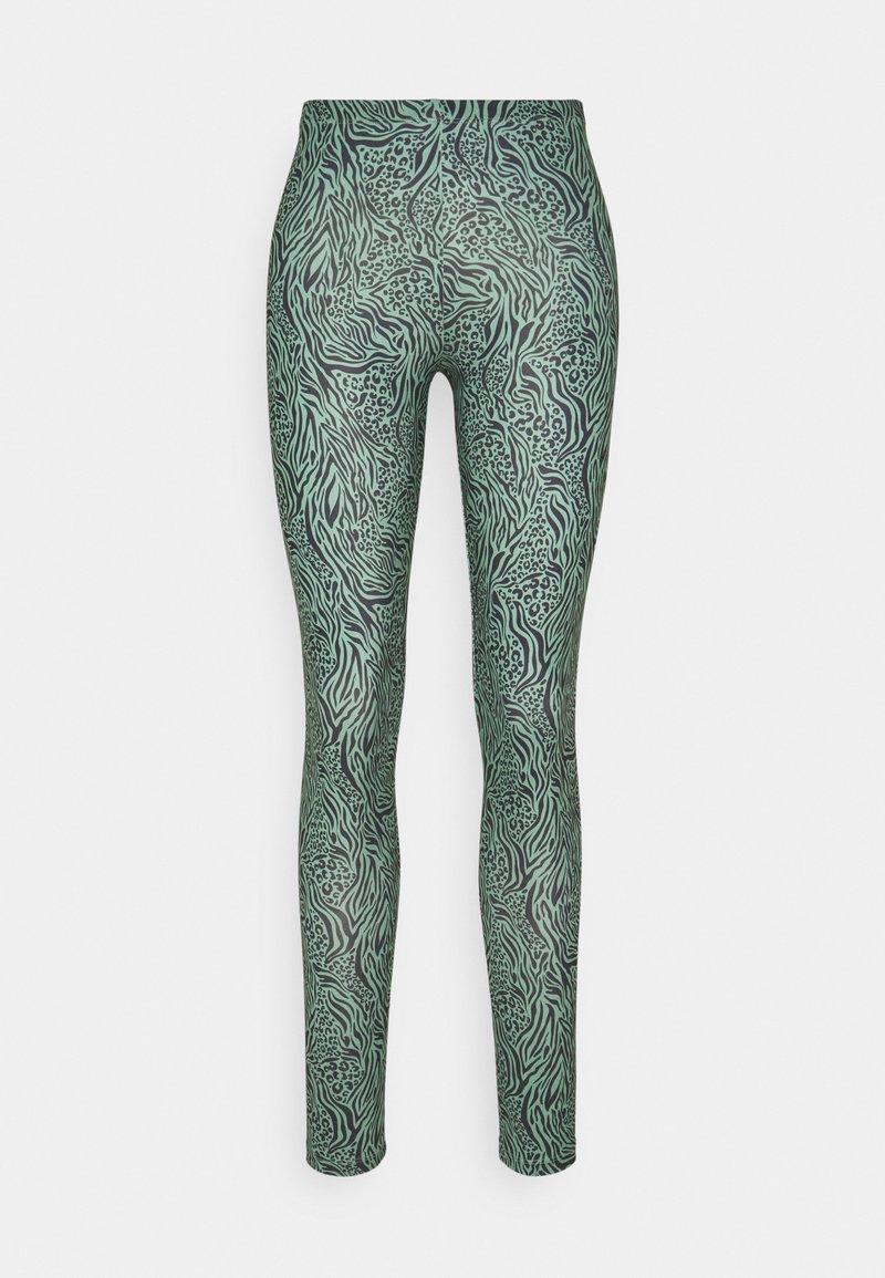 ONLY - ONLARIA LONG - Leggings - Trousers - balsam green/black