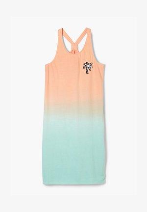 Jersey dress - aqua gradient