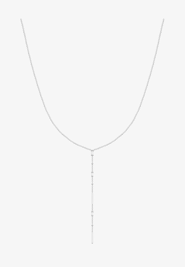 Necklace - white/silvery