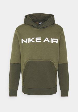 AIR HOODIE - Hoodie - medium olive/cargo khaki/white