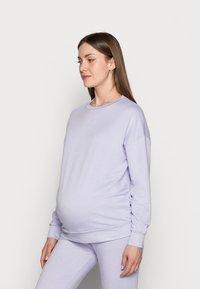 Pieces Maternity - PCMRELAX BLOUSE - Sweatshirt - purple heather/melange - 0