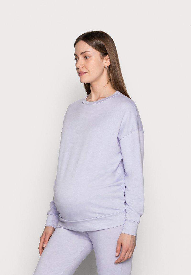 Pieces Maternity - PCMRELAX BLOUSE - Sweatshirt - purple heather/melange