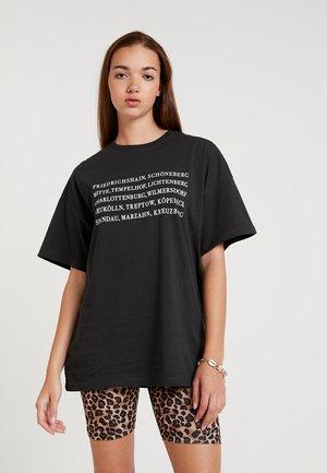 T-shirt med print - anthracite