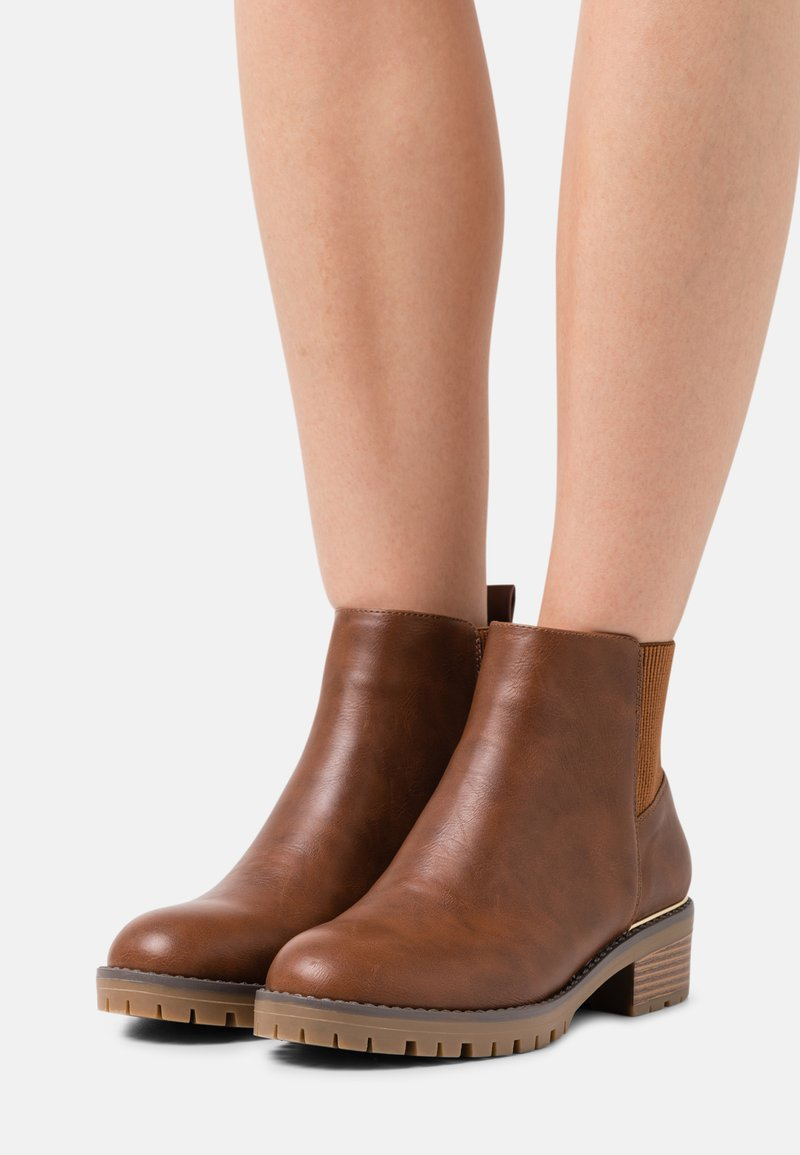 Anna Field Wide Fit - Ankle boots - cognac