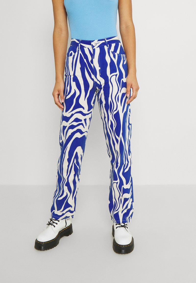 Monki - Relaxed fit jeans - rave blue