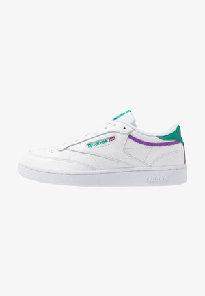 CLUB C 85 - Trainers - white/emeral/grapun