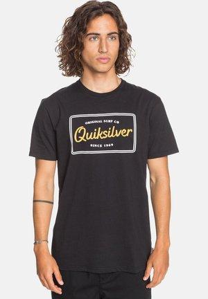 BLAZING BACK  - Print T-shirt - black
